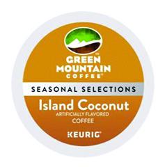 Island Coconut Coffee K-Cups, 24/Box